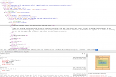 Inspecting HTML and CSS code while developing this website!